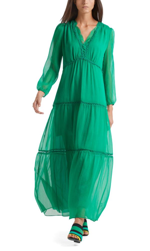 Kjole fra Marc Cain, finnes i kongeblå og grønn