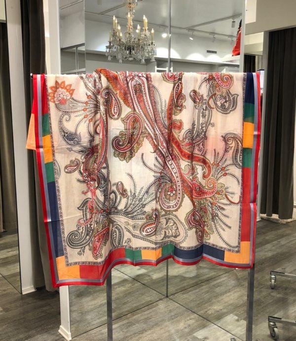 Tibetan Red sjal fra Mala Alisha