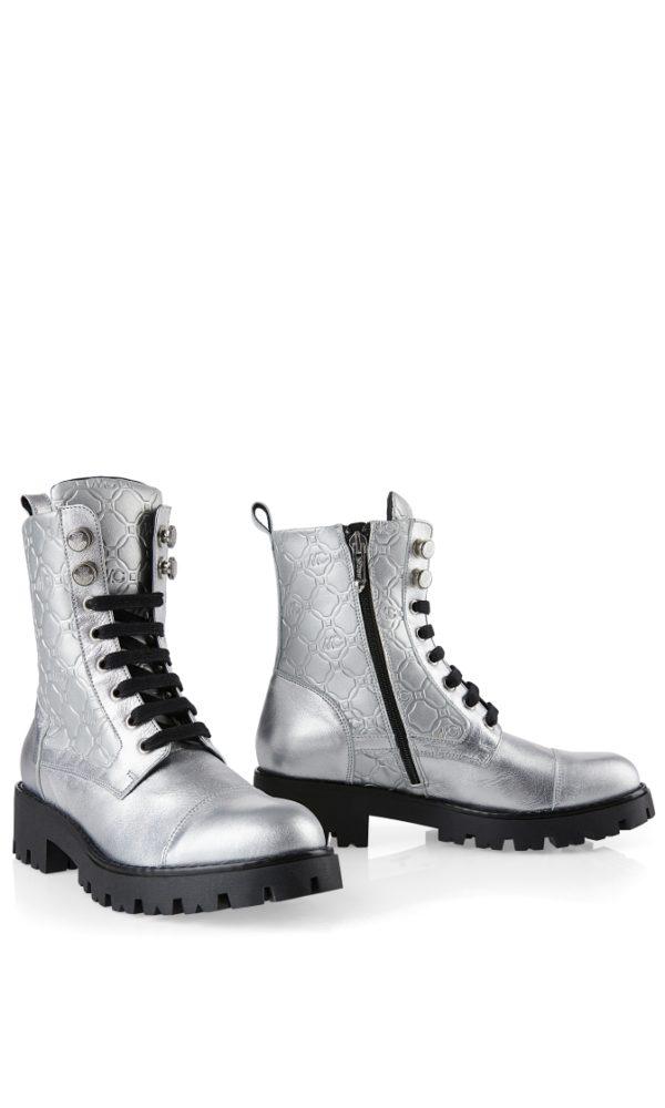 Ankelboots, sko fra Marc Cain, finnes i sort og sølv